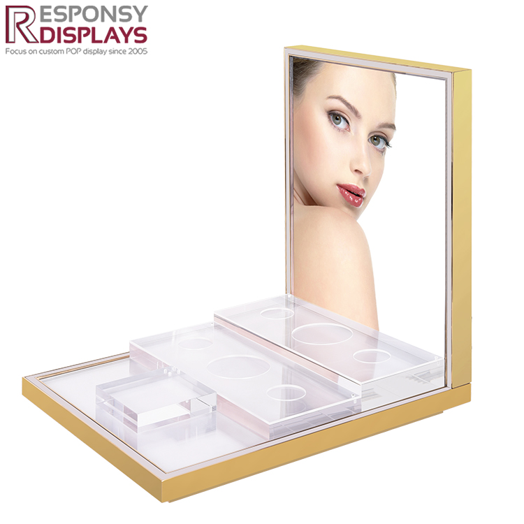 Countertop Acrylic Perfume Display Rack with LED Lights
