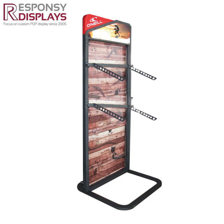 Custom firmly baseball cap & hat display rack for retail store
