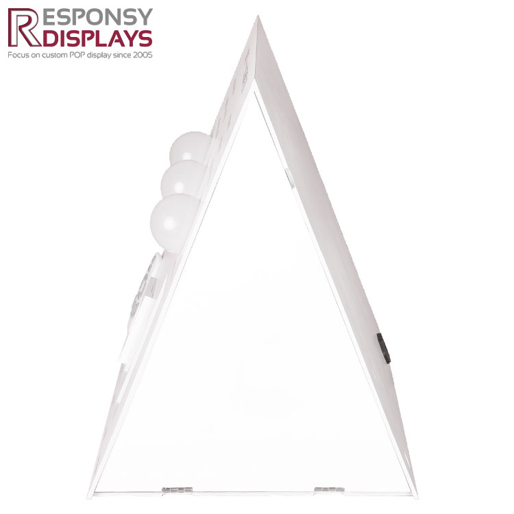 Quality  White PVC Triangle Display Stand For Intelligent