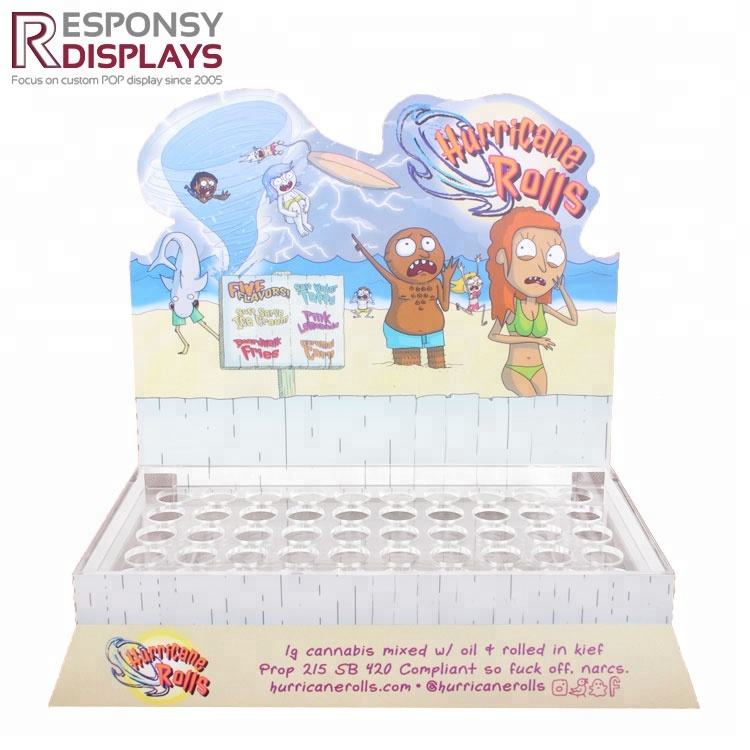 Acrylic Shopping Mall Cute Counter Display Rack