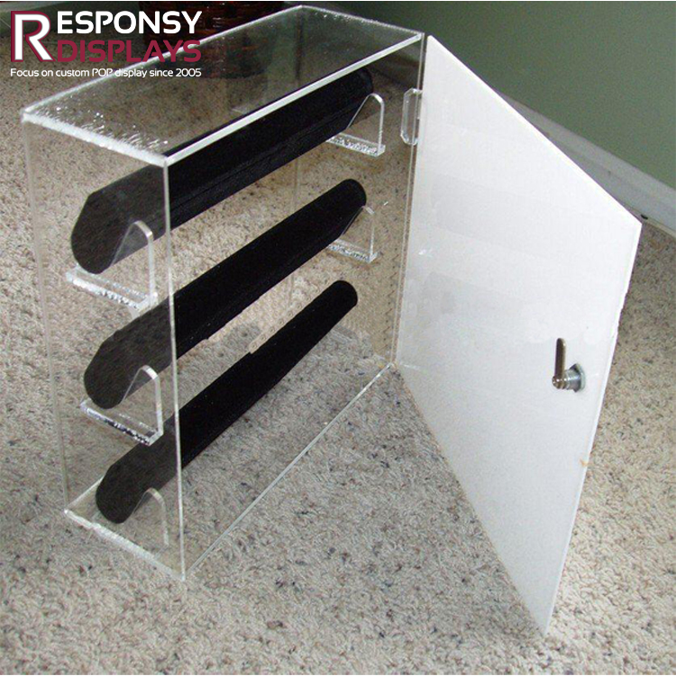 Custom-made Counter Double-sided Acrylic Jewelry Display Cases