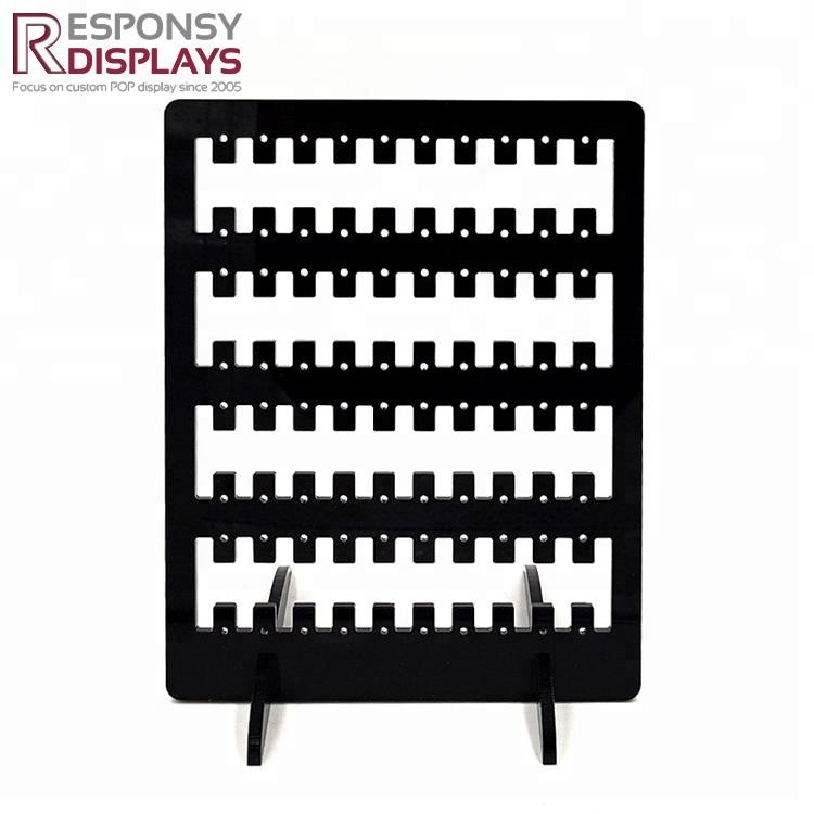 Wholesale Custom Made Desktop Black Acrylic Earring Display Stand