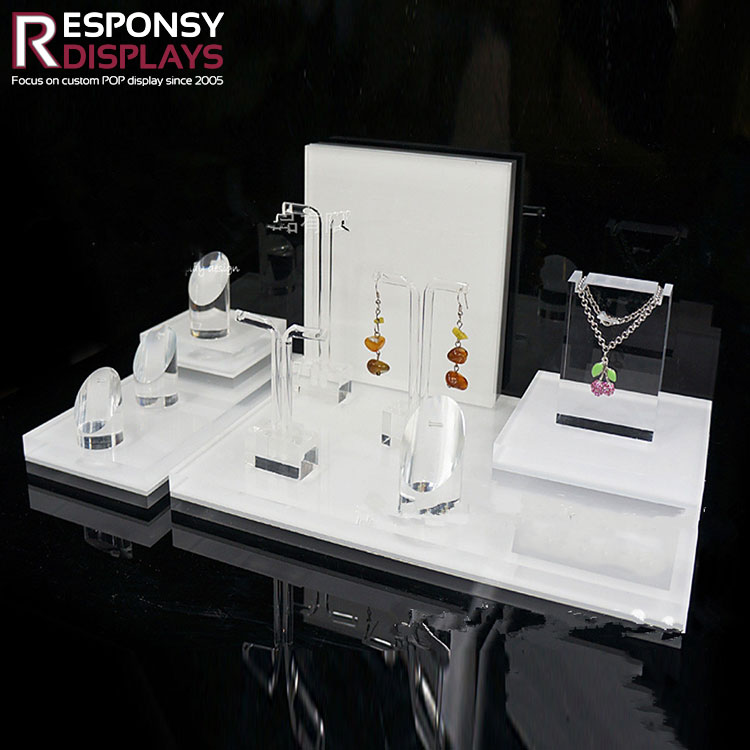 High Quality Portable Counter Acrylic Jewelry Display Stand
