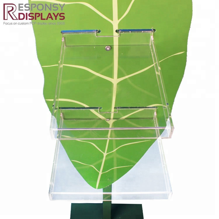 Floor Metal and PVC Bactericide Display Rack with Two Pockets