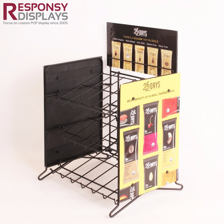 Metal Wire Rack Candies Chocolate Bar Snacks POS Counter Display Stand