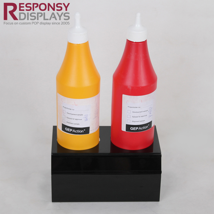 Countertop Sales Promotion Acrylic Sauce Display Stand For Shopping Mall