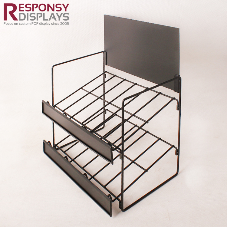 Custom Wholesales Counter Snack And Food Metal Wire Display Rack