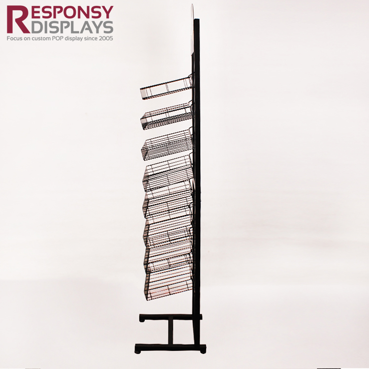 Floor Metal Water Display Rack For Supermarket