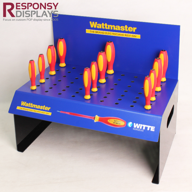 Sales Promotion Acrylic Or PVC Hand Tools Screwdriver Display Rack With Holes