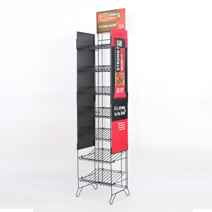 Promotion Floor Food Display Snack & Potato Chips Metal Rack Display Stand