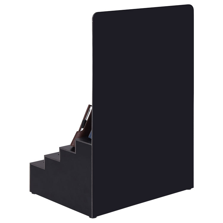 Custom Made Step-Shaped Counter PVC Wallet Display Stand With Slot